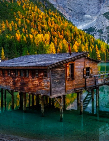 cabin in the water