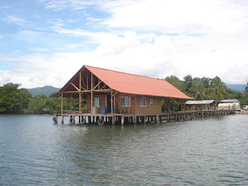 house over river