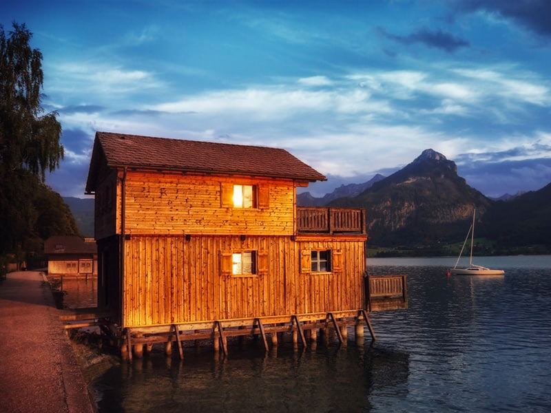 cabin in the water vacation