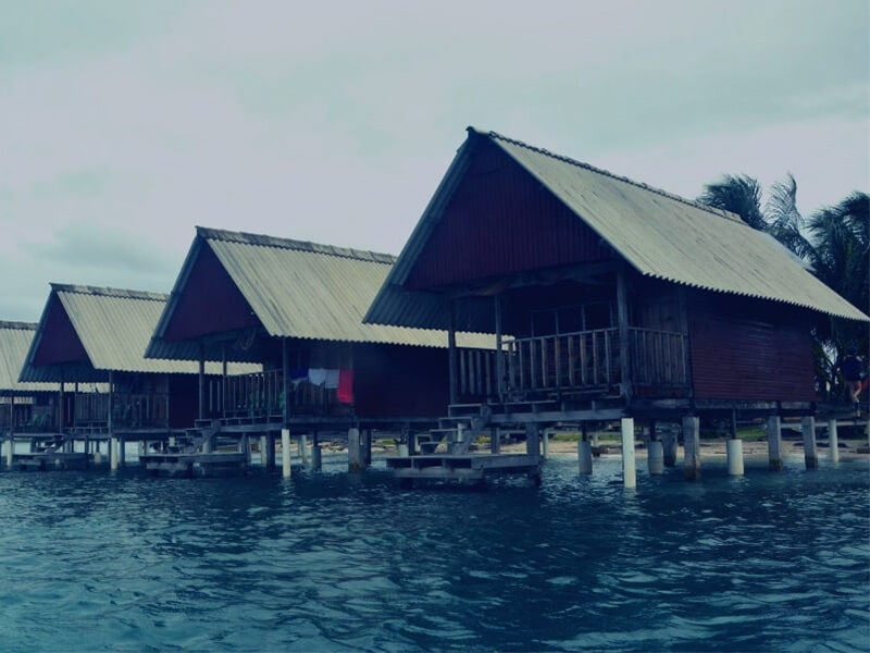 cabins on the water